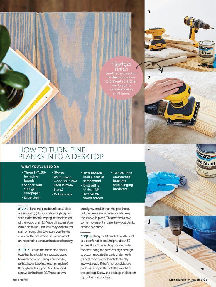 DIY Schreibtisch und Schubladen – Do It Yourself Magazine – Virginia Parks –  #DIY #magazine …
