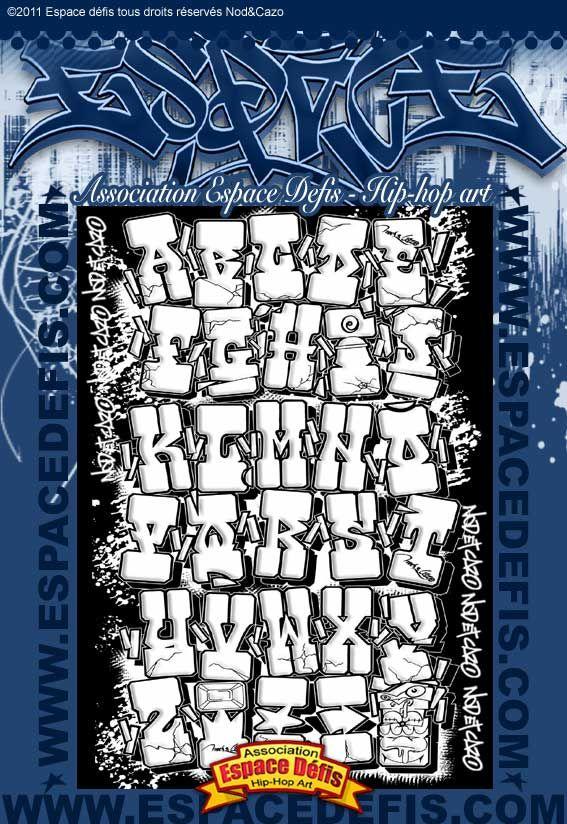 3 - Alphabet graffiti block western style - Vous avez choisi celui-ci ! participez au sondage en votant le N° 3