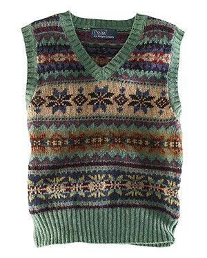 Ralph Lauren Childrenswear Boys' V-Neck Fair Isle Vest - Sizes 4-7 | Bloomingdale's