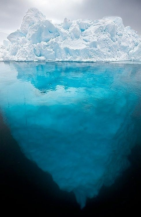 What you see of an iceberg above the water, is only a fraction of what is under the water.