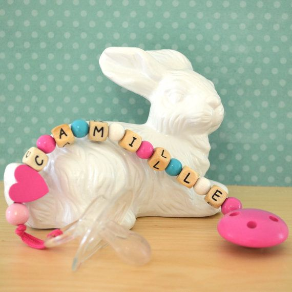 Pacifier clip personalized name pacifier clip by orangeandcoco, $20.00  #baby, #pacifier holder, #baby gift