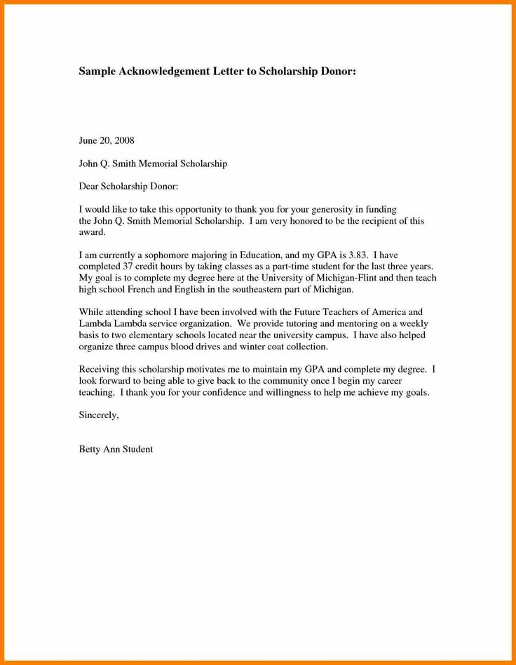 25+ beste ideeën over Scholarship thank you letter op Pinterest - professional thank you letter