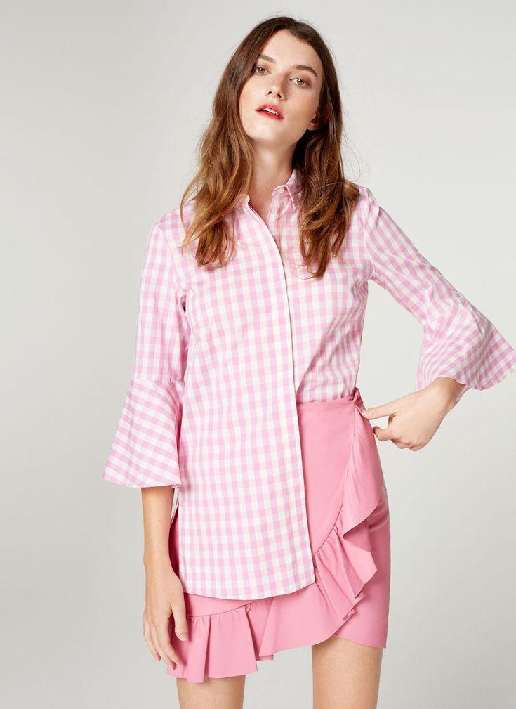 Camisa vichy rosa - Ver todo - Colección - Uterqüe España