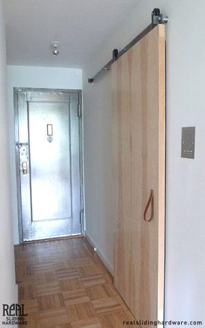 Sliding Door Modern Hallway Leather Strap Pull Handle