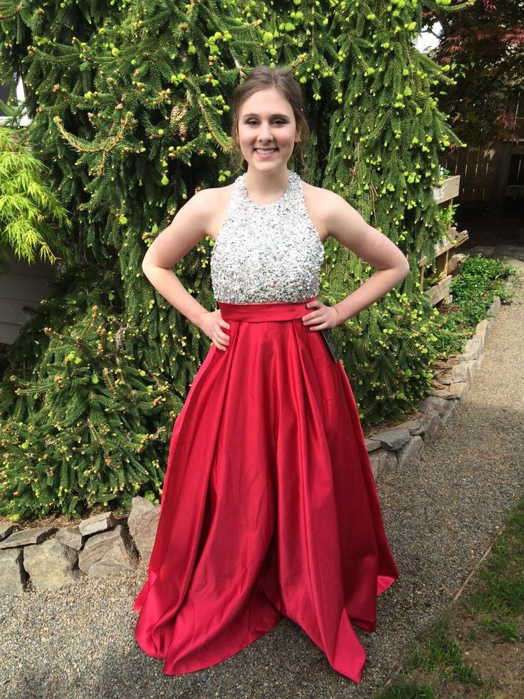 This dress is absolutely stunning! The people I corresponded with were all extremely helpful and a pleasure to work with. The timing was also wonderful as I received the dress right... READ MORE ABOUT Andybridal Satin Prom Dress Halter Beaded Sequins Backless Long Evening >>>