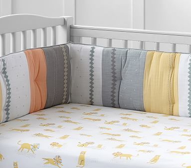 Little Lion Organic Crib Fitted Sheet #pbkids