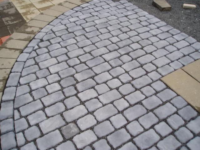 Cobblestone Patio Stone Pinterest Porches Front