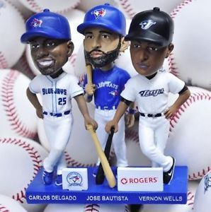 Blue Jays 40th Season Trio Bobblehead: Delgado, Bautista & Wells Kitchener / Waterloo Kitchener Area image 1