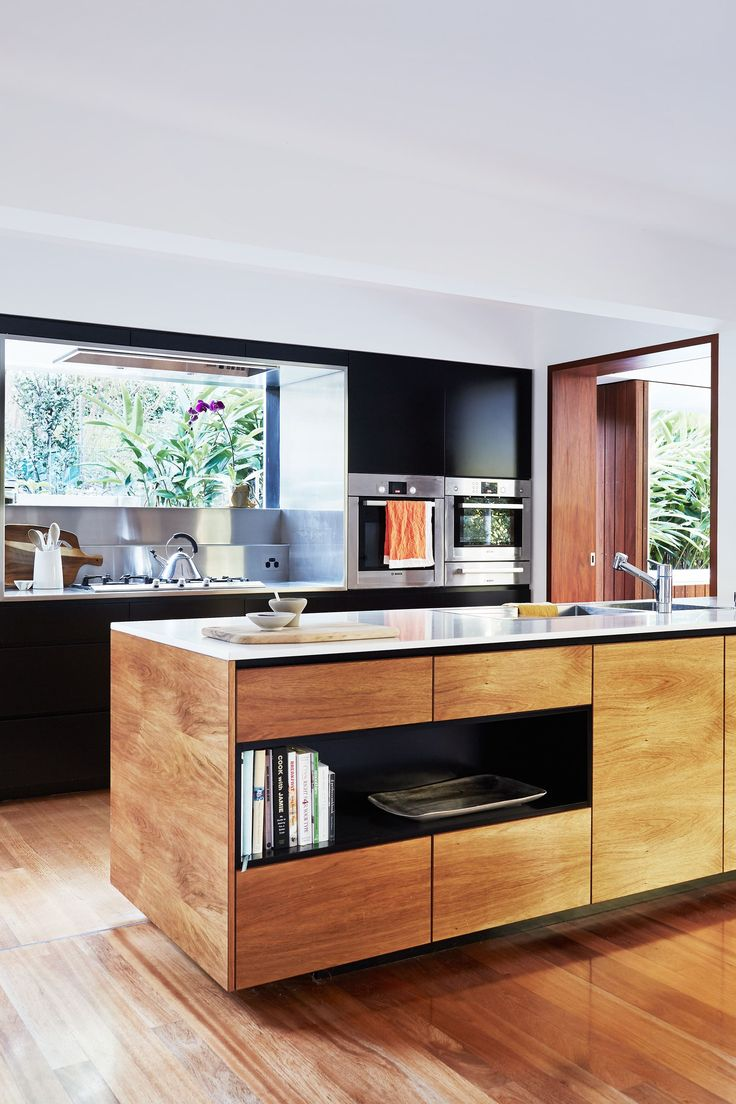Timber Kitchen From A Japanese Inspired Home In Queensland. Photography:  Alicia Taylor |