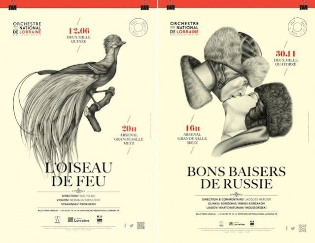 National Orchestra of Lorraine Illustrated Posters