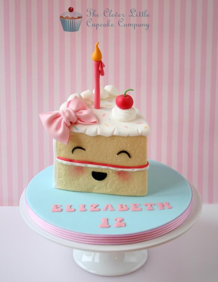 Birthday Cake Slice - Cake by The Clever Little Cupcake Company (Amanda Mumbray)