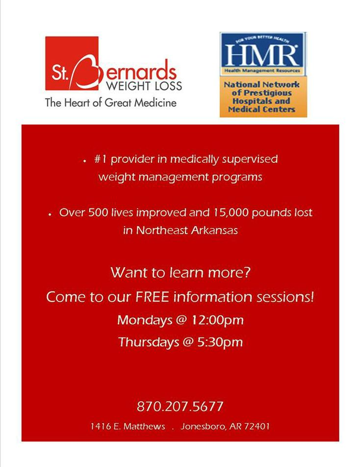 St. Bernards Weight Loss Flyer