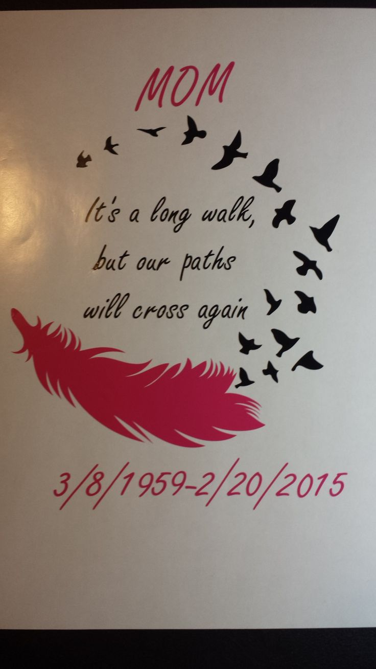 Mom memorial car decal