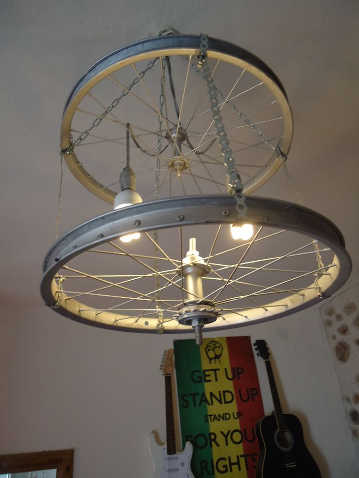 DIY wheels from a bicycle for light!!