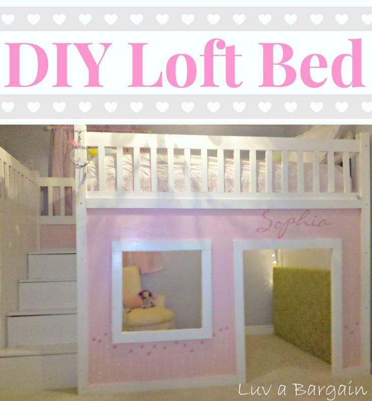 How to Build a Loft Bed | Bedroom | Pinterest | Playhouses ...