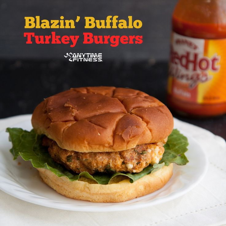 #Recipe ~ Blazin' Buffalo Turkey #Burger Recipe | from @Anytime Fitness