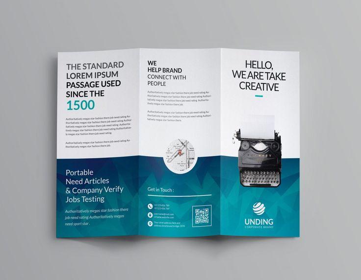 Ocean Corporate Tri Fold Brochure Template 001169
