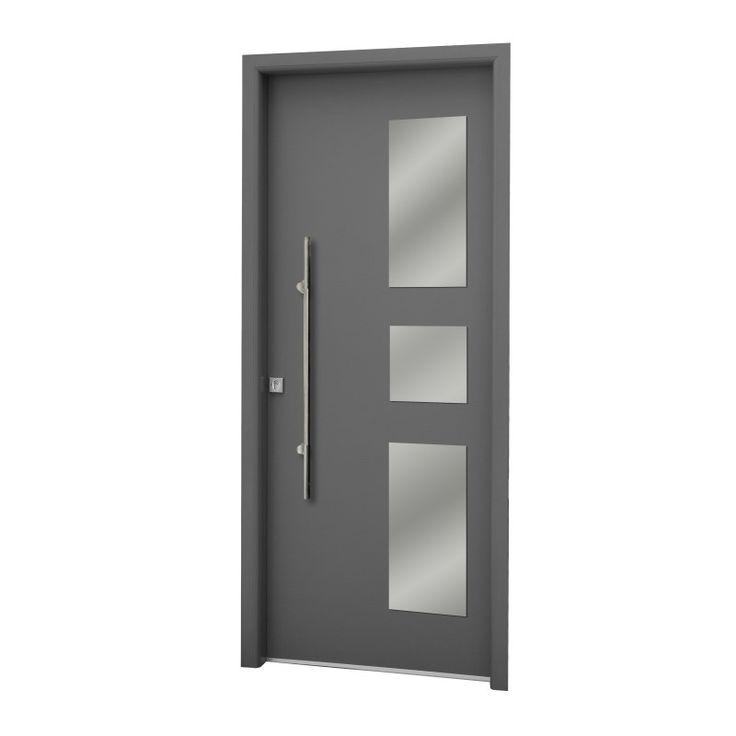 Las 25 mejores ideas sobre puertas de aluminio en for Puertas principales exteriores