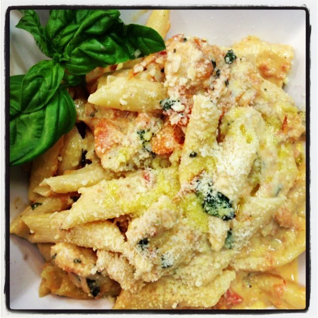 Creamy Chicken with Penne Pasta