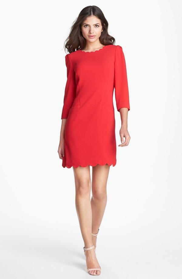 Ted Baker London Red Scalloped Dress