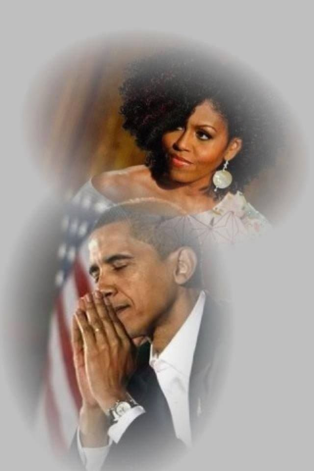 A beautiful picture of President Obama and the First Lady