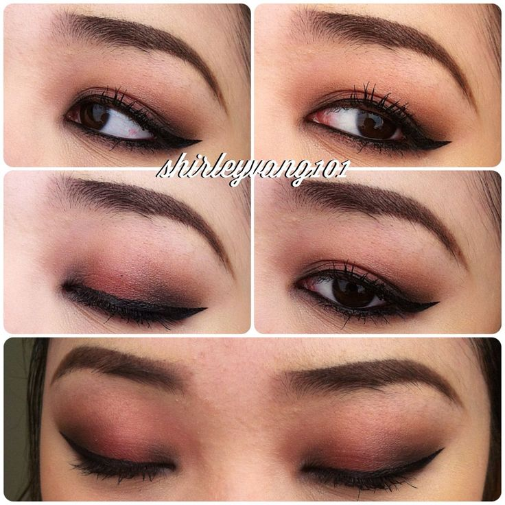 Matte smokey eye for Asian eyes