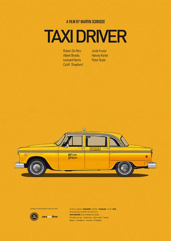 Cars and Films - Poster Series by Jesús Prudencio