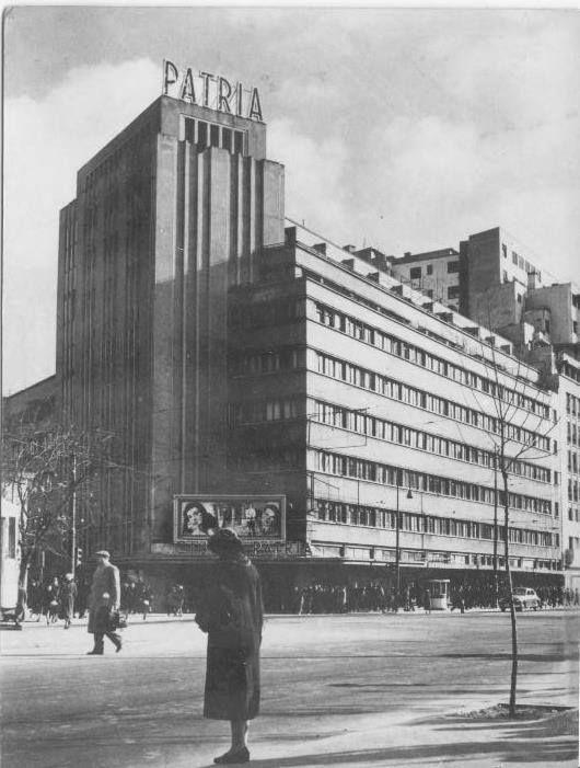 Bucarest,  Cinéma ARO devenu Patria, (1931-1935) Horia Creanga architecte.