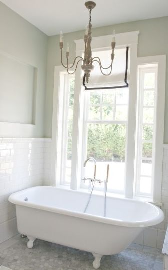Tiek Built Homes Gorgeous Small Bath With Vintage Clawfoot