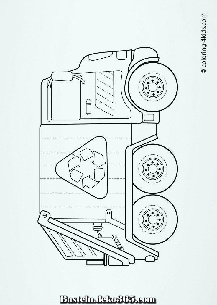 Schöne Müllwagen – Malvorlagen zu Händen Kinder, grbtrck – Jim Knopf