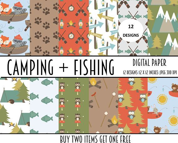 digital paper papers kids camping childrens collage
