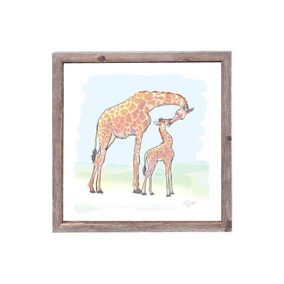 Giraffe Baby Nursery Art Wall Art Home Decor