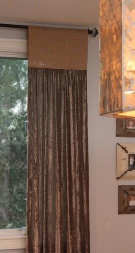 More faux drapes
