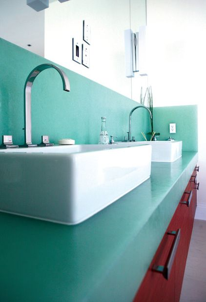 47 best images about recycled glass on pinterest for Recycled bathroom sinks