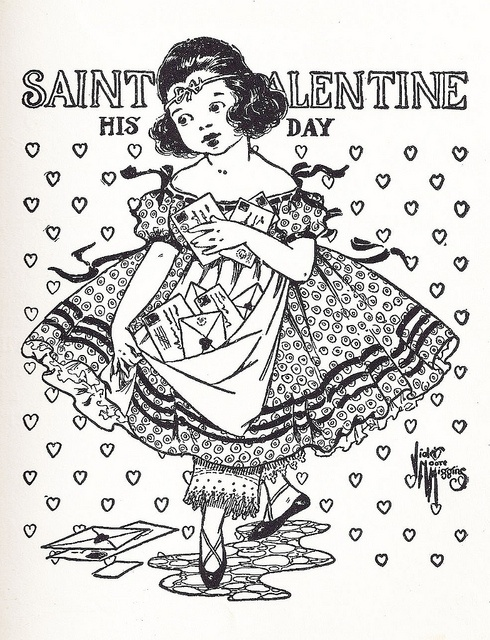 older valentines day coloring pages - photo#43