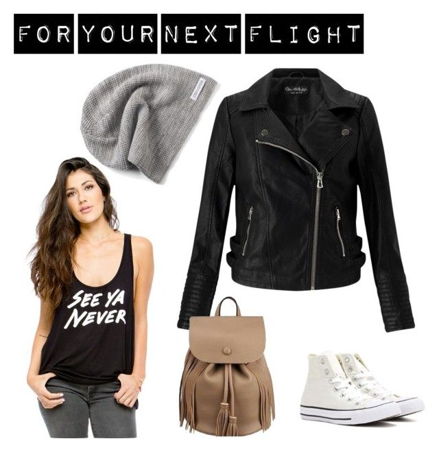 Casual travel outfit by seeyanever on Polyvore featuring Miss Selfridge, Converse and travel