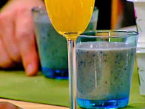 Smoothie på blåbär, banan och kokos | Recept från Köket.se