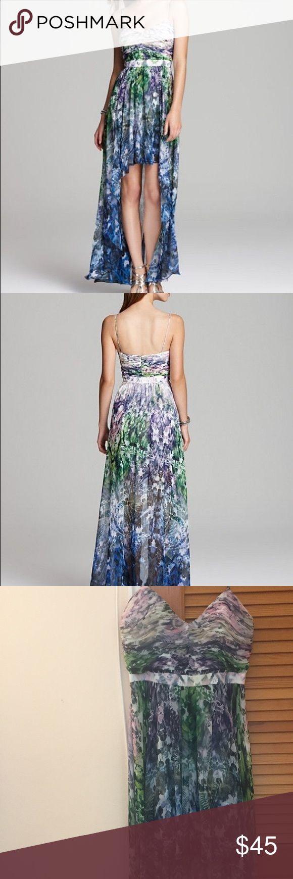 Aidan Mattox High Low printed Dress Worn twice.  Size 6 Aidan Mattox Dresses High Low