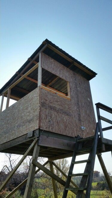 My 8x8 elevated deer blind nearing completion hunting for Elevated hunting blind designs
