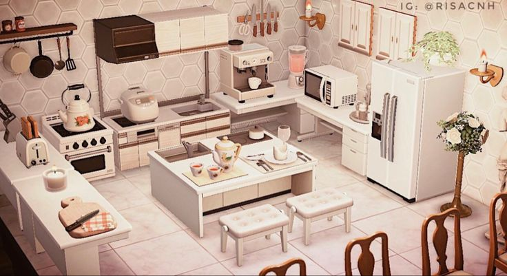 A basic and typical kitchen but I'm pretty proud of how it ... on Animal Crossing Kitchen Ideas  id=58294