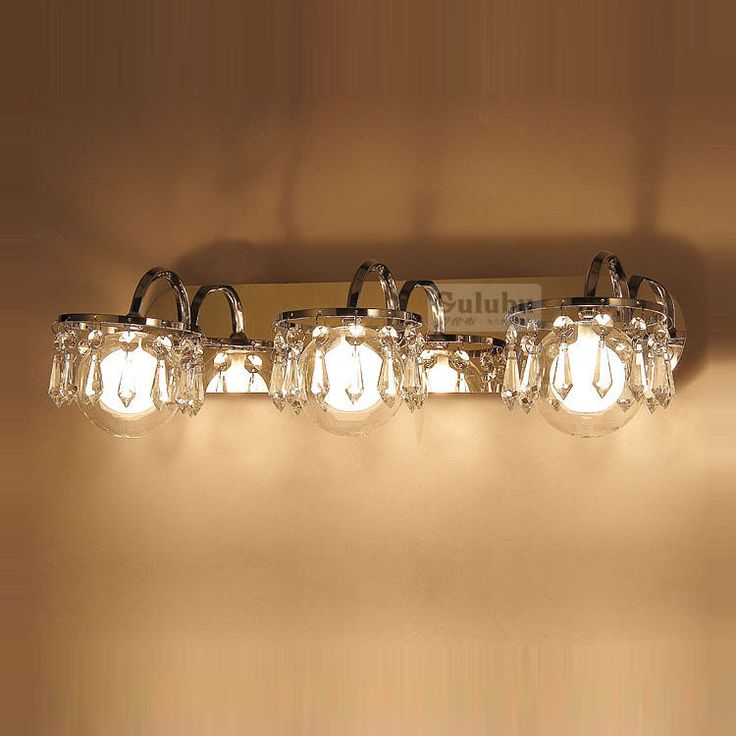 Wall Sconces With Hanging Crystals : Modern Crystal Hanging Wall Light White Glass Bathroom Mirror Front Wall Sconces Wall Sconces ...