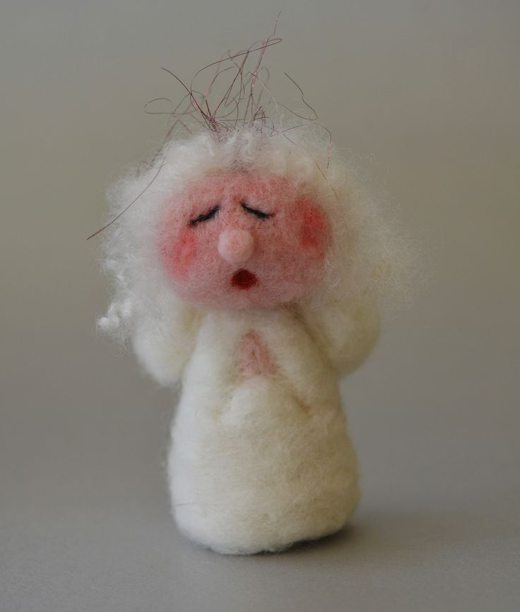 Angel in White -Needle felted By Briege Connolly