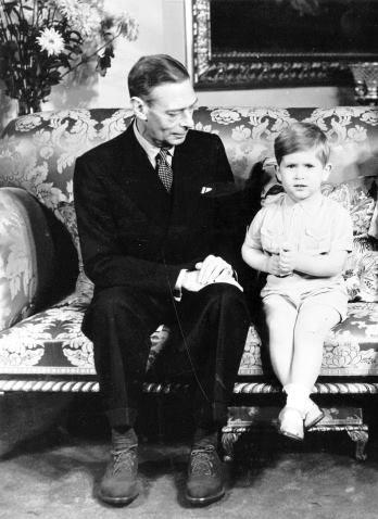 King George VI and Prince Charles, 14 November 1951.