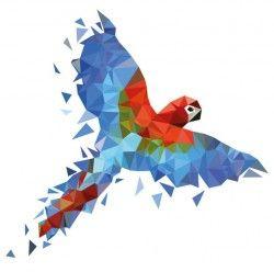 Studio Bluebird 3d muursticker Macaw