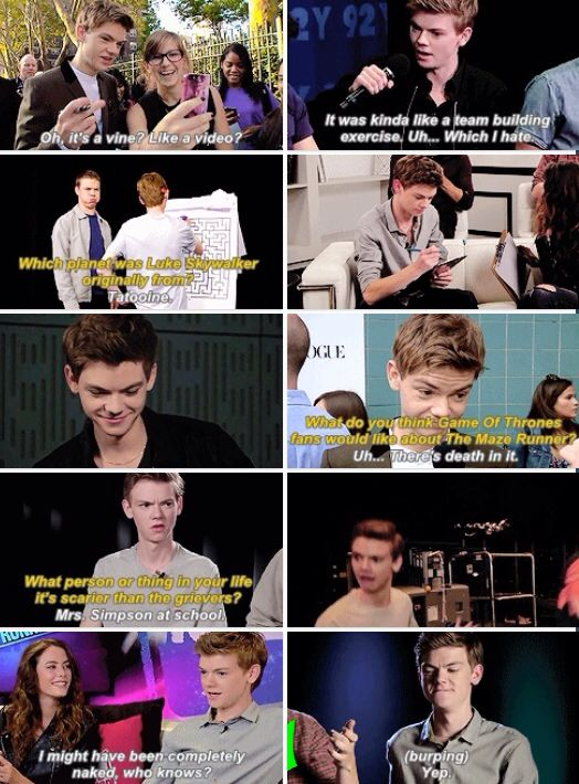 Thomas Sangster everyone. The reason I still live in this world
