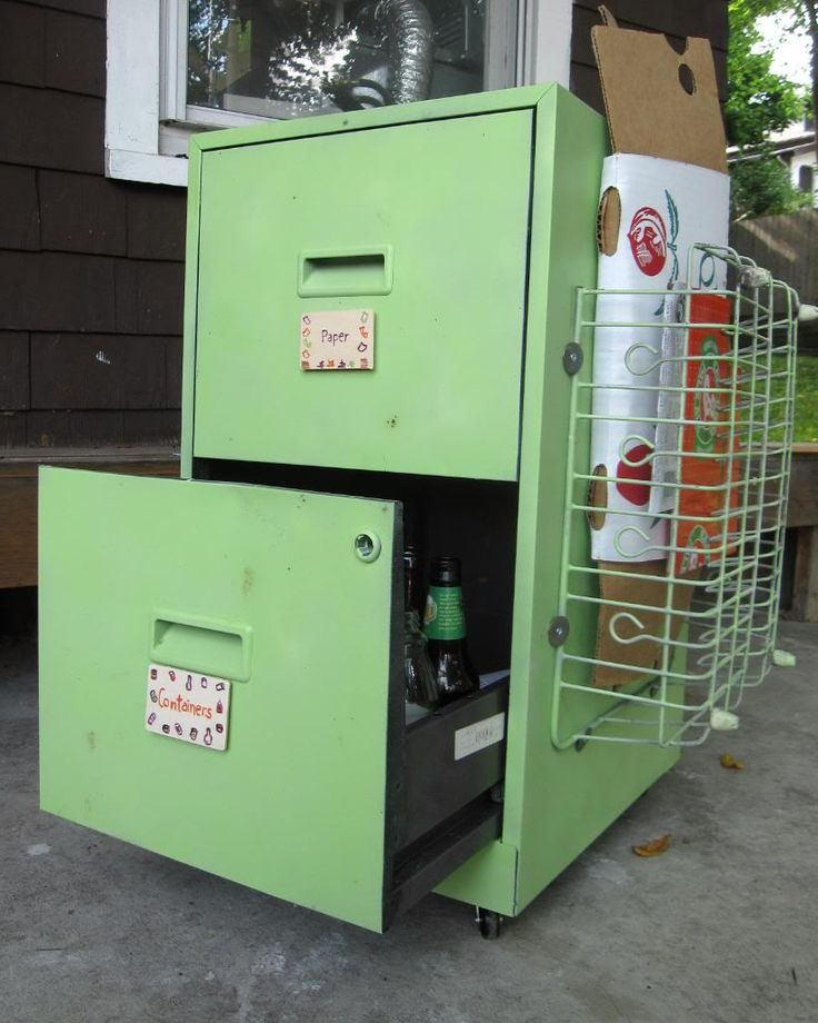 Whitey S Metal Recycling Home: How To Build A Home Made Recycling Bin