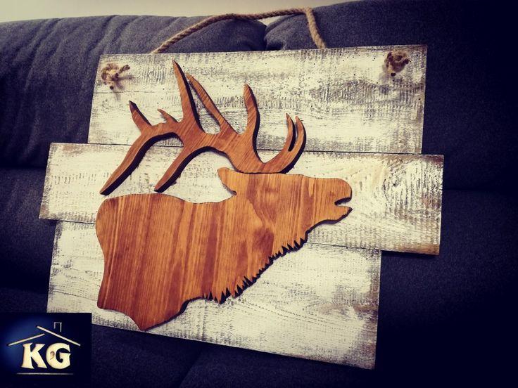 Jeleń #wood #woodwork #design #decor #decorations #wooddecor #las #home #natural #oldwood