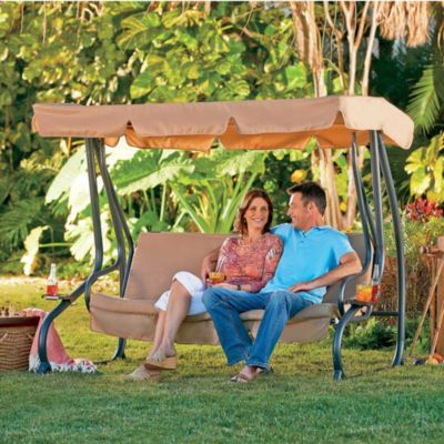 Convertible Outdoor Swing with Canopy