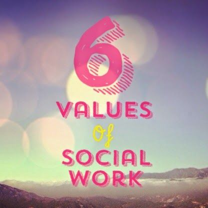 According to the NASW Social Work Code of Ethics, the 6 core values of social work are:           1. Service - to provide help, resources, ...