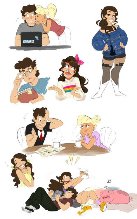 Becca Draws Stuff <---- I'm not sure if I ship Dipper and Pacifica, but this is possibly the most accurate representation of what Dipper and Mabel will look like in the future.